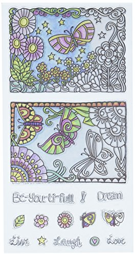 Hampton Art Color Me Clear Stamps 4'X7.75'-Beautiful