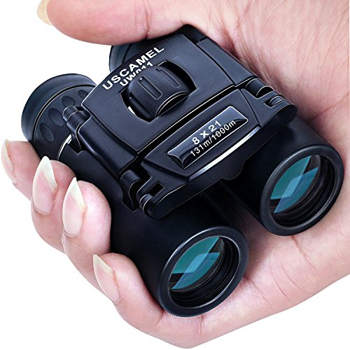 USCAMEL 8x21 Mini Doppelfernrohr Fernglas, Hohe Vergrößerung und Hohe Auflösung