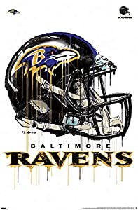 "Trends International NFL Baltimore Ravens - Drip Helmet 20 Wall Poster, 22.375"" x 34"", Premium Unframed"