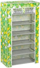 Cromtail Shoe Cabinet Rack Light Weight Foldable Shelves Storage Organizer for Home and Office (Green Heart, 6 Layer)