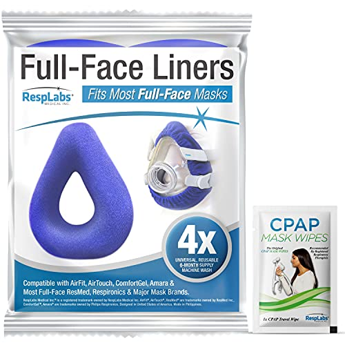 RespLabs CPAP Mask Liners for Full Face Cushions - 4 Pack, Universal -...