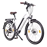 NCM Milano Plus 48V 26' Zoll Damen & Herren Urban E-Bike, 250W Das-Kit Heckmotor, 16Ah 768Wh Panasonic Li-Ion Zellen Akku, hydraulische Scheibenbremsen, 8 Gang Shimano Schaltung