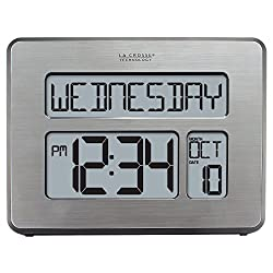 La Crosse Technology C86279 Atomic Full Calendar Clock with Extra Large Digits