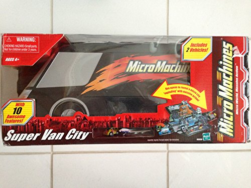 Micro Machines Super Van City with 10 Awesome Features and 2 vehicles included