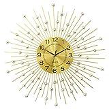 MOMIN Orologio da Parete Orologio da Parete Moderno Senza ticchettio Orologio da casa a Batteria (Colore : Oro, Dimensione : 75x75cm)