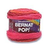 Bernat POP!, 5oz, Guage 4 Medium, 100% Acrylic, Scarlet Sizzle