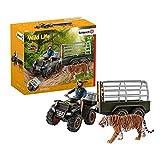 Schleich 42351 Wild Life play set - Quad con remolque y guardabosques, juguetes a partir de 3 años