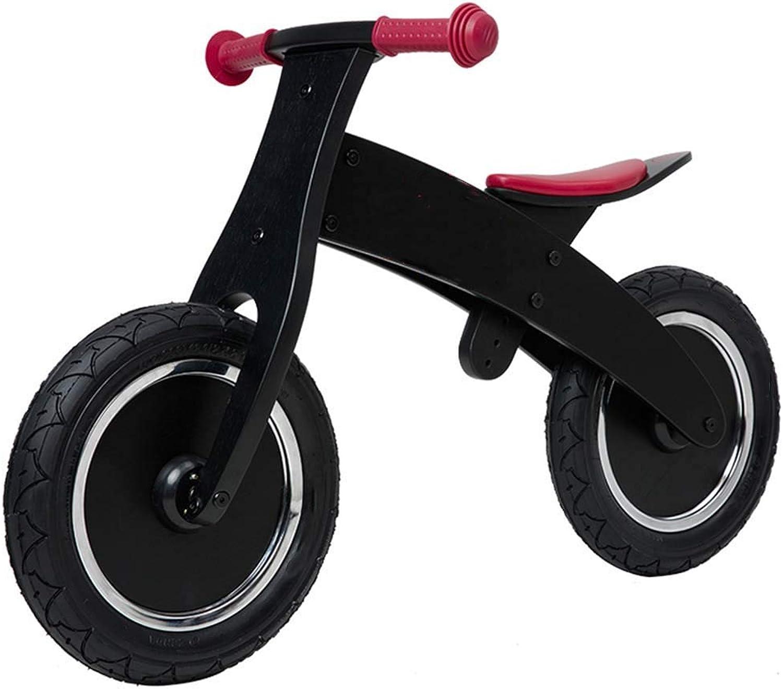 varios tamaños Bicicleta sin pedales Bici Bicicleta de Equilibrio de de de Madera - Sin Bicicletas de Entrenamiento con Pedales para Niños de 2, 3, 4 y 5 años, Negro  la red entera más baja
