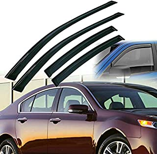 Tuning_Store 4pcs Window Visors Deflector Shade Rain/Sun/Wind Guard for 2004-2008 Acura TL Quality Accessories for Motorcycle Car Tuning