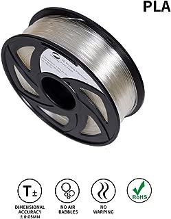 LEE FUNG 1.75mm PLA 3D Printing Filament Dimensional Accuracy +/- 0.05 mm 2.2 LB Spool DIY Material Tools (Transparent)