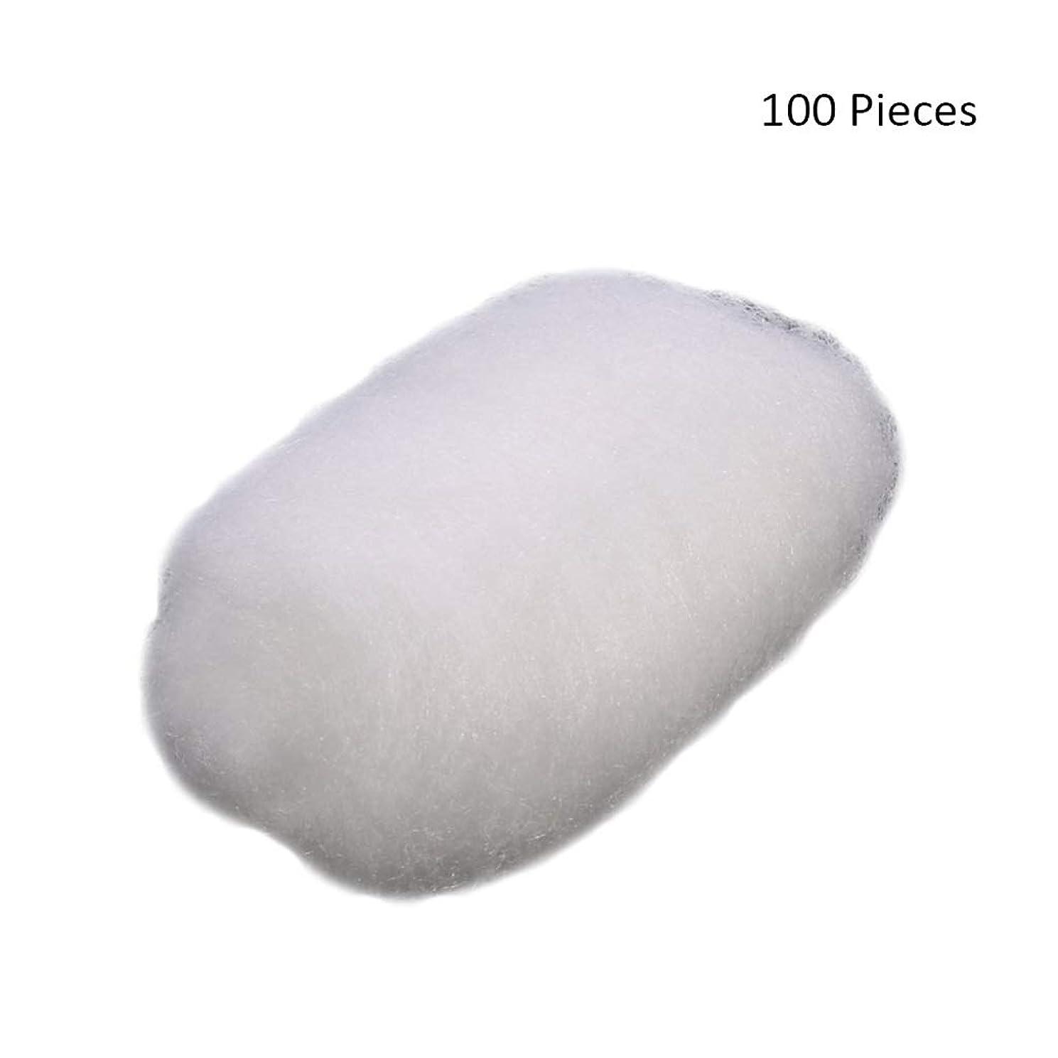 溶岩工業化する伝染性の100ピース/バッグフェイスメイクアップリムーバーコットンボールタトゥー消毒メイククレンジングローション化粧品除去コットンボール (Color : White)