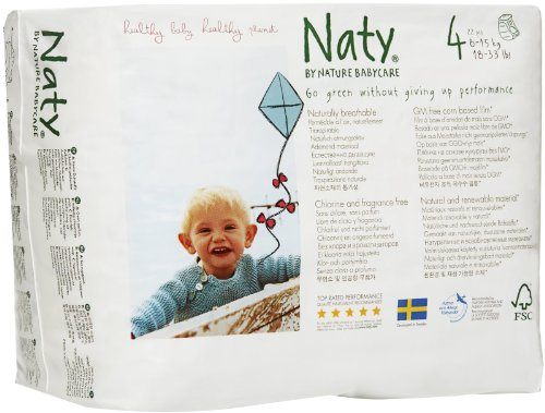 Naty by Nature Babycare 8-15Kg Size 4 Eco Pull On Pants - Pack of 22