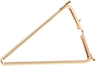 Dolity Retro Triangle Metal Kiss Clasp Purse Frame Coin Bag Clutch DIY Accessories
