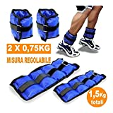 TrAdE Shop Traesio- Pesi Caviglie Polsi CAVIGLIERA Sport Arti Marziali Fitness CAVIGLIERE Peso 1,5KG