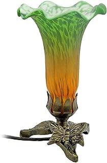 DEI Green Orange Tulip Uplight Lamp