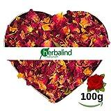 Herbalind 100 g Natur Premium Rosenblätter rot Rosenblüten getrocknet - echte...