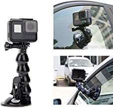 Jaws Flex Suction Cup Car Mount Holder, iKNOWTECH Flexible Gooseneck Extension with Phone Holder for GoPro Hero 6 5 Black,4 Session,4 Silver,3+,SJ6000,YI,LD6000,iPhone X/8 Plus/7/6,Samsung & more