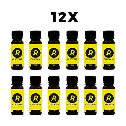 QUICKAIR SHOT Liquid Magnesium Plus 12x 60ml – Gute- Vorsätze-Paket - mit Koffein, Taurin, B-Vitamine und Aminosäuren