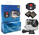 Cámara de Acción EKEN H8R 4K, Cámara Deportiva a Prueba de Agua Full HD Wifi con Video 4K30/...