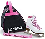 SFR Skate Pack Retro Patins à Glace Blanc/Rose Taille 29