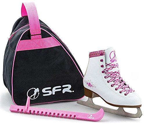 SFR Skate Pack Retro Schlittschuhe Set weiß-pink Mädchen white-pink, 30.5 (UK 12J)