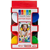 Sudor Fingerfarben für Kinder und Babys, 6 Stück von 30 ml. Ungiftig und Waschbare Farben, für Kreative Spiele und Malaktivitäten in Kindergarten, Schule und zu Hause
