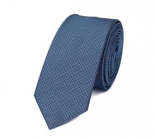 Fabio Farini - Elegante Herren Krawatte kariert in 6cm Breite in verschiedenen Farben für jeden Anlass wie Hochzeit, Konfirmation, Abschlussball Blau Schwarz
