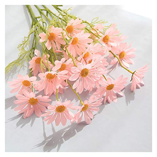 Image of fake flowers Artificial Daisies, 5 Holland Chrysanthemums, And Cosmos Flowers, Which Are Easy To Care For And Use For A Long Time, for Wedding Home Photography Props, Artificial Flowers Chamo