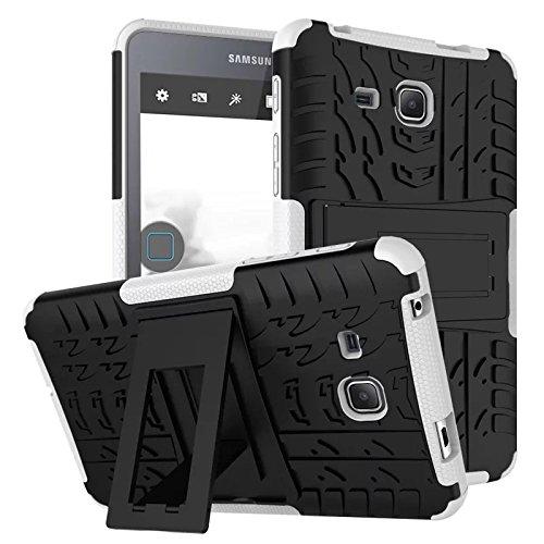 XITODA Galaxy Tab A6 7.0 Cover,Custodia per Samsung Tab A 7 2016, Hybrid Armor Cover Tough Copertura Tablet Case per Samsung Galaxy Tab A 7.0 SM-T280 T285 Custodia Protezione con Kickstand - Bianca