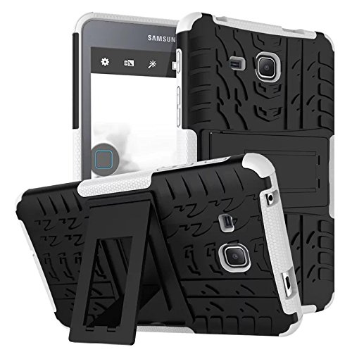 XITODA Galaxy Tab A6 7.0 Cover,Custodia per Samsung Tab A 7 2016, Hybrid Armor Cover Tough Copertura Tablet Case per Samsung Galaxy Tab A 7.0 SM-T280/T285 Custodia Protezione con Kickstand - Bianca