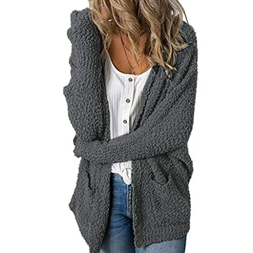 Great Price! NANTE Top Loose Women's Coat Solid Fleece Open Front Cardigan Womens Long Coats Warm Sw...