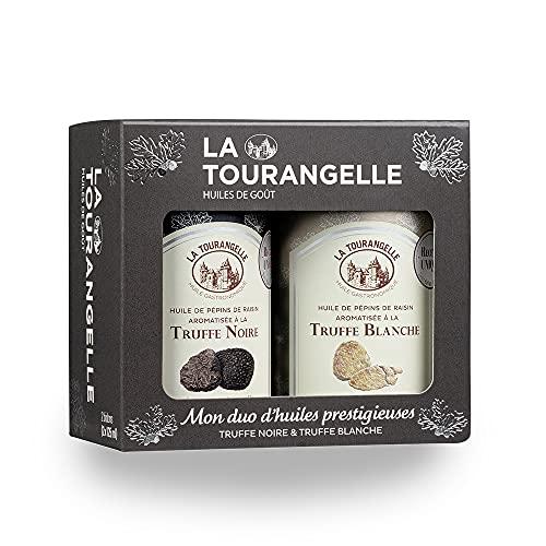 La Tourangelle Coffret Duo Huiles de Truffe Blanche et Truffe Noire 2 x 125ml 0.23 kg 250.00 ml