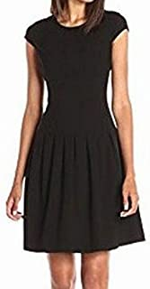 Lark & Ro Womens Dress Black US 14 A-Line Cap Sleeve Pleated Stretch