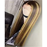 QUINLUX HAIR 150 Density #4/27 Ombre Highlight Color Lace Front Human Hair Wigs...