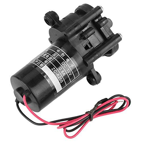 Hilitand ZC-A250 Zahnradpumpe korrosionsbeständige Druckerhöhungspumpe Mini selbstansaugende Kunststoff DC Getriebe Wasserpumpe (DC 12V)