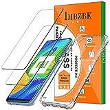 IMBZBK [2 Pack] Protector Pantalla para Xiaomi Redmi Note 9 Cristal Templado + Funda Xiaomi Redmi Note 9, [Anti-Huellas Dactilares] [Alta Definicion], con Funda de TPU Transparente