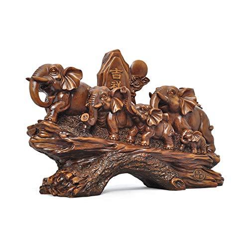 Estatuas de Feng Shui Elefante decoración feng shui elefante afortunado lindo resina artesanía elefante estatua casero sala de estar decoración regalos de negocios animal hecho a mano escultura orname