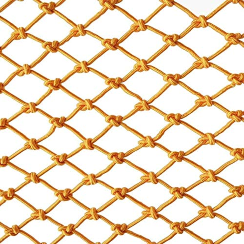 Safety Net Balcony Protection Fence Yellow Child Safety Net Protective Net Balcony Stair Shatter-resistant Net Kindergarten Color Decorative Net Fence Net Hand Weaving Traditional Structure Safety Net