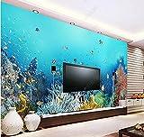 Papel Tapiz 3D Decoración Murales Pared De Fondo Del Acuario Del Mundo Submarino-400Cmx280Cm