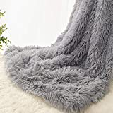 EMME Baby Blanket Soft Fuzzy Blanket for Baby Faux Fur Blanket Plush Warm Receiving Blanket for Girl and Boy Cozy Blanket for Crib, Stroller, Nap, Outdoor (Grey, 30