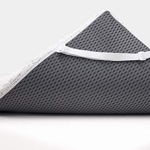 ViscoSoft 3 Inch Charcoal Memory Foam Mattress Topper Queen Short - Select High Density Ventilated Mattress Pad