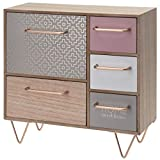 Gr8 Home Wooden Mini <span class='highlight'>Dresser</span> <span class='highlight'>with</span> 5 <span class='highlight'>Drawers</span> Drawer Cabinet Shabby Chic Country Cottage Jewellery Box Storage Room Tidy Shelf Organiser Furniture