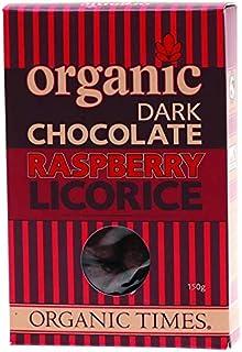 Organic Times Dark Chocolate Raspberry Licorice 150g,