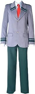 miccostumes Men's Izuku Midoriya Deku Cosplay Costume School Uniform with Short and Long Ties