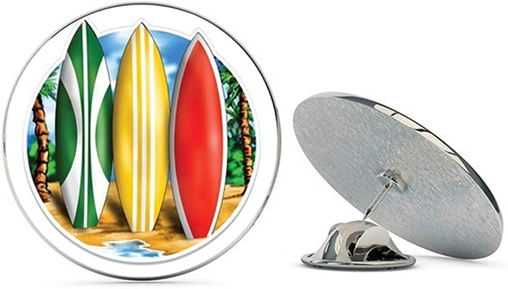 NYC Jewelers Surfboards Tropical Beach Ocean Surfing Metal 0.75