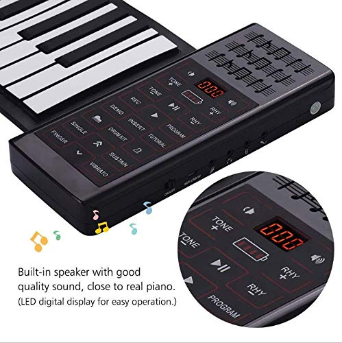 TYZY Hand rolled electronic piano 88 key Portable Multi-Functional Keyboard Folding Piano Keys for Students Children Beginners Introduction To