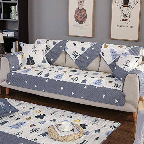 Homeen Funda de sofá, protector de sofá, funda de sofá con impresión de sala de estar, funda de sofá seccional, protector de sofá para silla/sillón/sofá-gris_blanco_110 x 110 cm