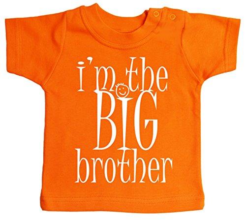 IIE, T-shirt pour bébé garçon I'm The Big Brother, I'm The Big Brother, - Orange - XS