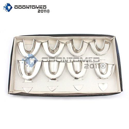 OdontoMed2011 8 Dental Impression Trays Set Solid Denture Instruments ODM