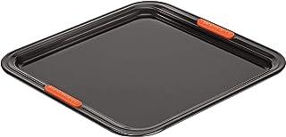 Le Creuset non-stick bakplåt, kvadratisk, 31 x 31 cm, PFOA-fri, syrabeständig, tillverkad av kolstål, antracit/orange